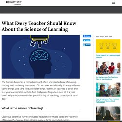 What Every Teacher Should Know About the Science of Learning