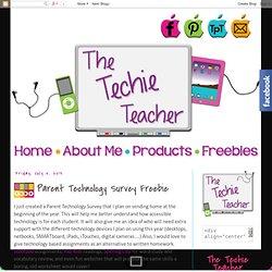 The Techie Teacher: Parent Technology Survey Freebie