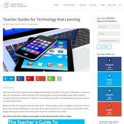 Teacher Guides for Technology And Learning