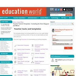 Teacher Tools & Templates - Including the Venn Diagram and More!