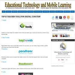 Top 10 Teacher Tools for Digital Curation