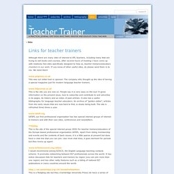 The Teacher Trainer Journal
