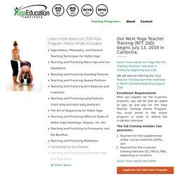 200 Hour Yoga Teacher Training Program and Certification - RYT 200