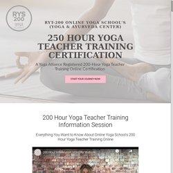 200 Hour Yoga Teacher Training & Certification RYT-200
