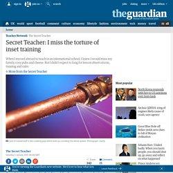 Secret Teacher: I miss the torture of inset training