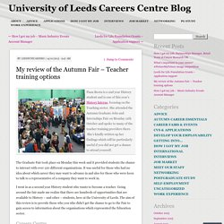 My review of the Autumn Fair – Teacher training options
