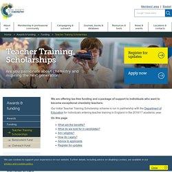 Teacher Training Scholarships