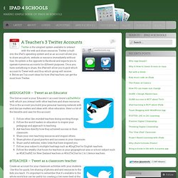 iPad Edu Tweeting