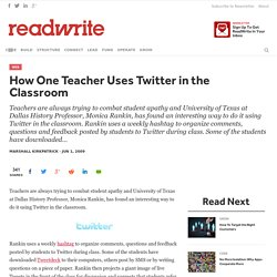 How One Teacher Uses Twitter in the Classroom
