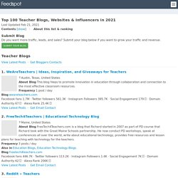 Top 100 Teacher Blogs And Websites With Classroom Resources For Teachers