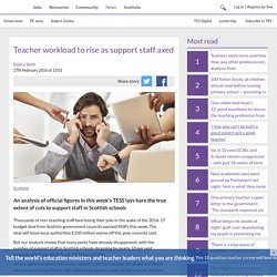Teacher workload to rise as support staff axed