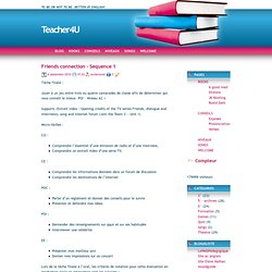 Teacher4U » Blog Archive » Friends connection – Sequence 1