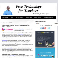 TeacherMade - Quickly Create & Share a Variety of Online Activities