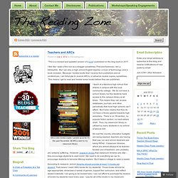 Teachers and ARCs « The Reading Zone