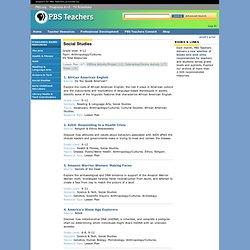 Teachers - Social Studies Anthropology/Cultures