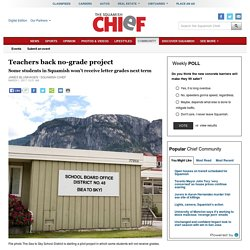 Teachers back no-grade project