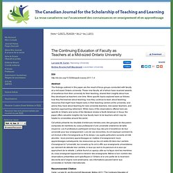 """Faculty as Teachers"" by Lorraine M. Carter and Bettina Brockerhoff-Macdonald"
