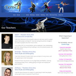 Our Teachers - Ceroc and Modern Jive Dance Company
