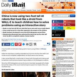 Robot teachers invade Chinese kindergartens