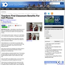 Teachers Find Classroom Benefits For Cell Phones