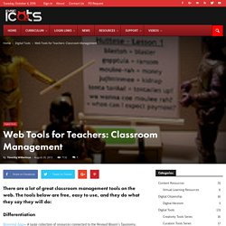 Web Tools for Teachers: Classroom Management