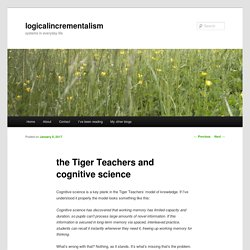 the Tiger Teachers and cognitive science