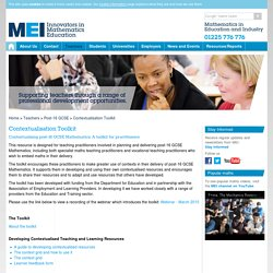 MEI > Teachers > Contextualisation Toolkit