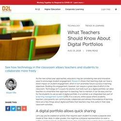 What Teachers Should Know About Digital Portfolios