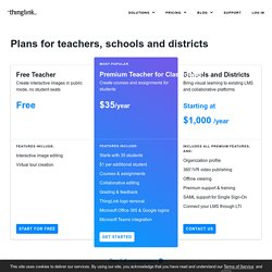 Plans for Teachers, Schools and Districts — ThingLink