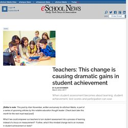 Teachers: This change is causing dramatic gains in student achievement