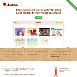 Tizmos Home - SEE and Access your Favorite Websites in One Place