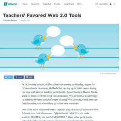 Teachers' Favored Web 2.0 Tools
