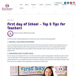 5 Teachers Tips for First Day of School