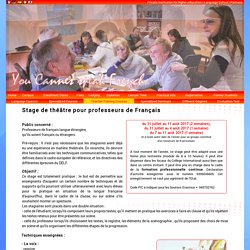 Courses for teachers - Training course for teachers - Formation pour professeurs