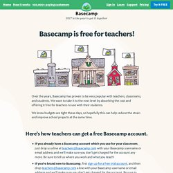 Teachers get Basecamp for free