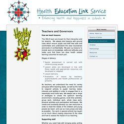 Teachers and Governors - Health Education Link Service