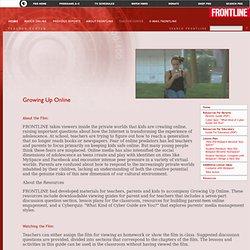 Teachers' Guide - Growing Up Online