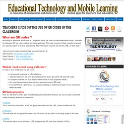 Teachers Guide on The Use of QR Codes in The Classroom