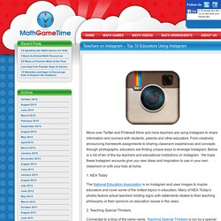 Teachers on Instagram – Top 10 Educators Using Instagram