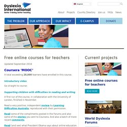Free online courses for teachers