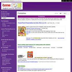 Teachers of English Learners - Foldables