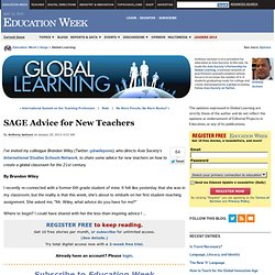 SAGE Advice for New Teachers - Global Learning