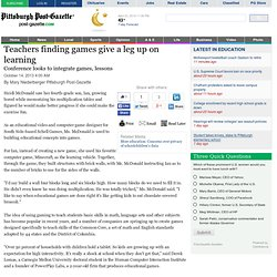 Teachers finding games give a leg up on learning