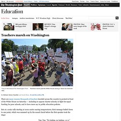 WP: Teachers march on Washington