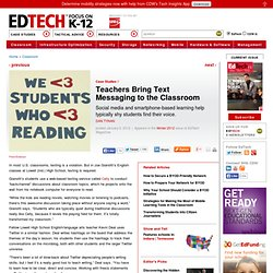 Teachers Bring Text Messaging to the Classroom