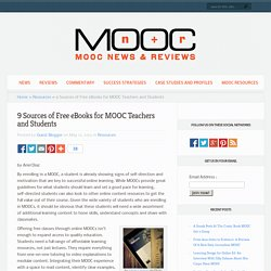 9 Sources of Free eBooks for MOOC Teachers and Students