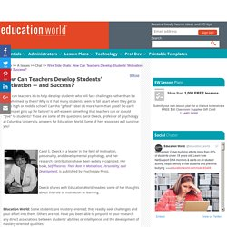 Wire Side Chats: How Can Teachers Develop Students' Motivation