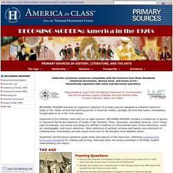 America in the 1920s, Primary Sources for Teachers, America in Class, National Humanities Center