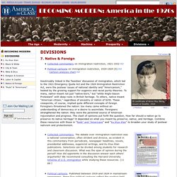 Native & Foreign, America in the 1920s, Primary Sources for Teachers, America in Class, National Humanities Center