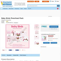 dschurma Shop - baby-birds-preschool-pack